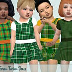 Green Tartan Dress By Pelineldis