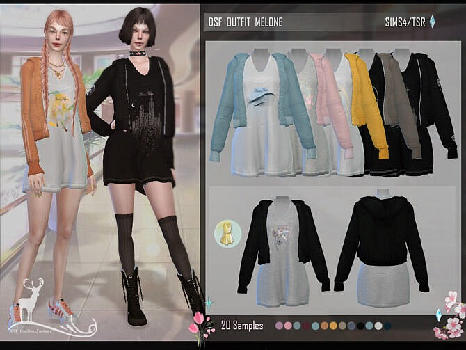 Sims 4 DSF OUTFIT MELONE by DanSimsFantasy at TSR