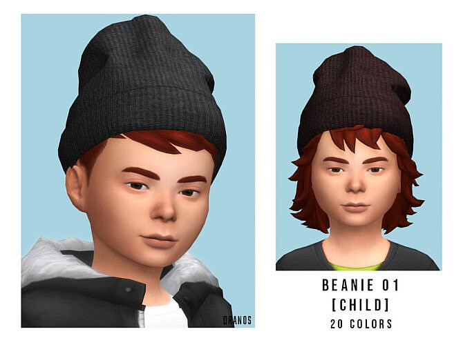 Sims 4 Beanie 01 Child by OranosTR at TSR