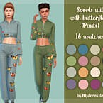 Sports Suit With Butterflies (pants) By Mysteriousoo