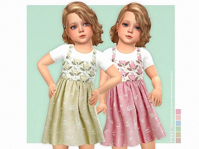 Sims 4 Carly Dress by lillka at TSR