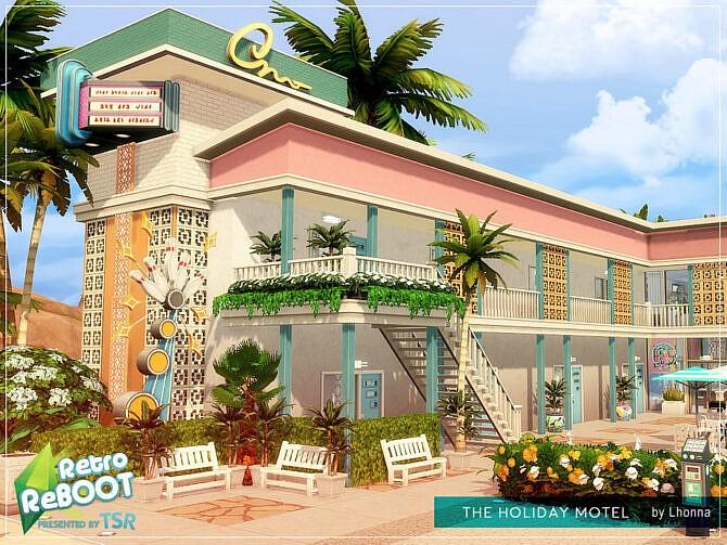 Sims 4 Retro The Holiday Motel by Lhonna at TSR