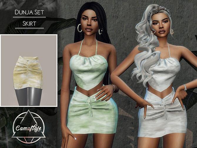 Sims 4 Dunja Set (Skirt) by Camuflaje at TSR