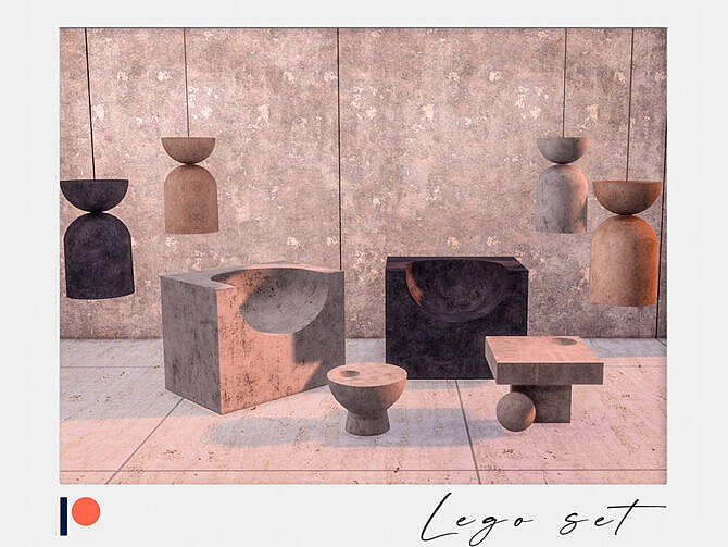 Sims 4 Lego living room set by Winner9 at TSR