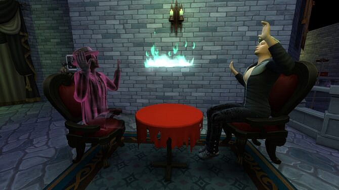 Sims 4 Torn Seance Table for paranormal Seance by Serinion at Mod The Sims 4