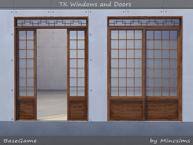 Sims 4 TK Windows and Doors by Mincsims at TSR