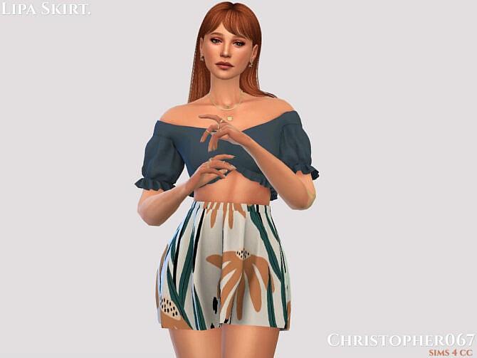 Sims 4 Lipa Skirt by Christopher067 at TSR