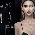 Diamond Earrings 2021029 By S-club Ll