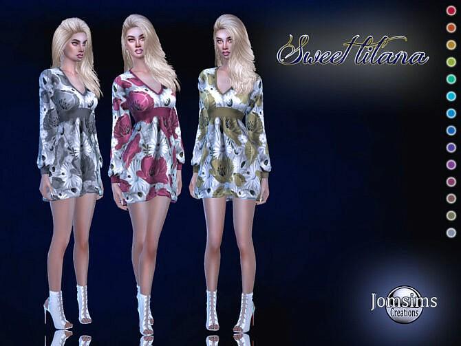 Sims 4 Sweet lilana dress by jomsims at TSR