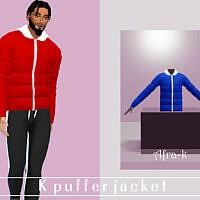 K Puffer Jacket By Akaysims