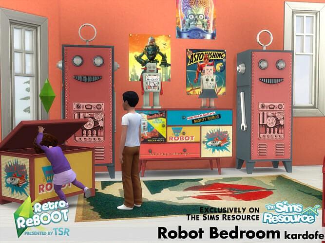 Retro Robot Bedroom By Kardofe