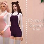 Overall Shorts By Dissia