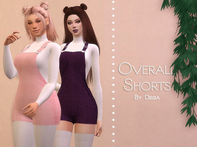 Sims 4 Overall Shorts by Dissia at TSR