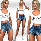 Mini Denim Shorts By Saliwa