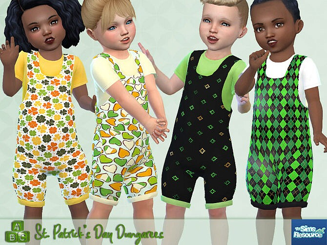 Sims 4 St. Patricks Day Dungarees by Pelineldis at TSR