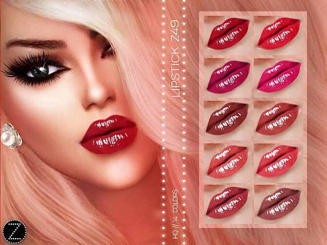 Sims 4 LIPSTICK Z49 by ZENX at TSR