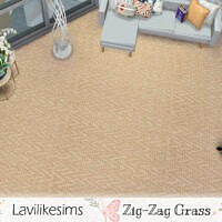 Zigzag Grass Carpet By Lavilikesims