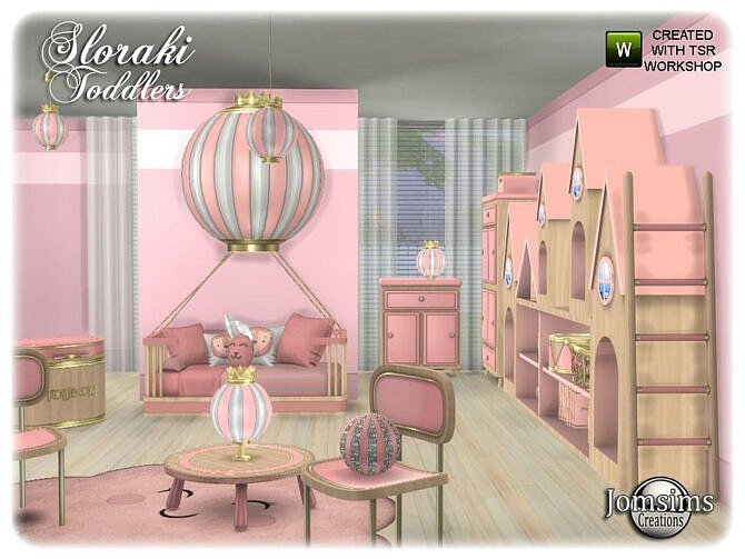 Sims 4 Sloraki toddlers bedroom by jomsims at TSR