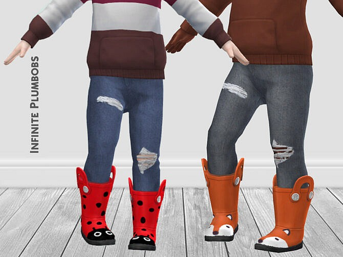 Sims 4 IP Toddler Animal Face Wellies by InfinitePlumbobs at TSR