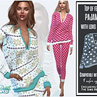 Long Sleeve Pajamas Top By Sims House