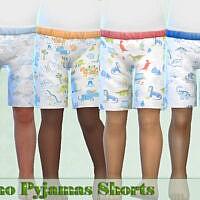 Dino Pajama Shorts By Pelineldis