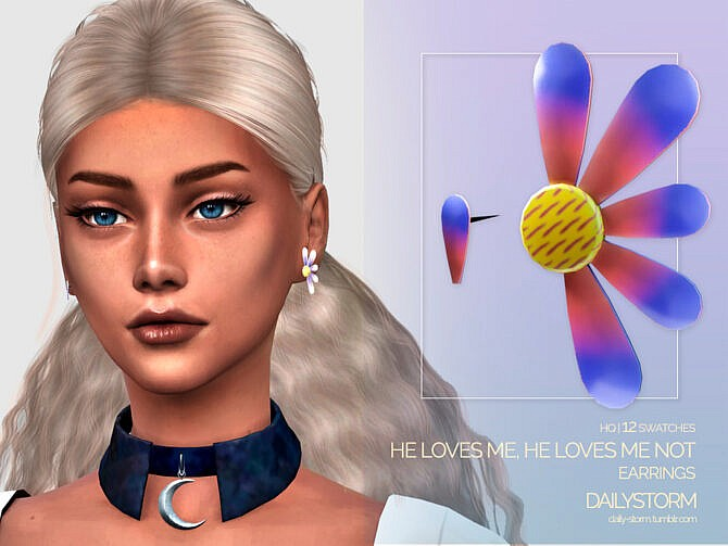 Sims 4 He Loves Me Earrings by DailyStorm at TSR