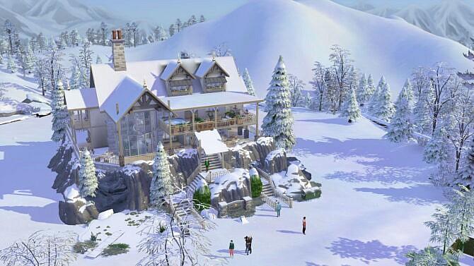 Sims 4 Apres Ski with spa 40x30 by bradybrad7 at TSR