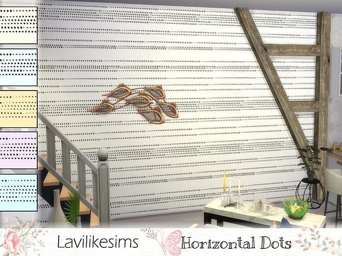 Sims 4 Horizontal Dots wallpaper by lavilikesims at TSR