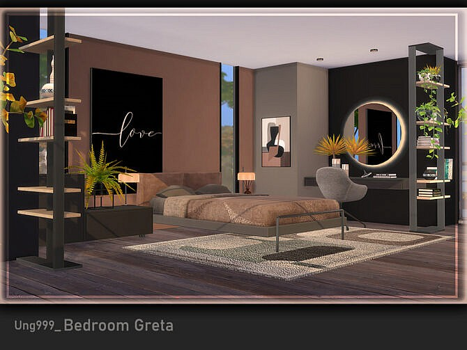 Sims 4 Bedroom Greta by ung999 at TSR
