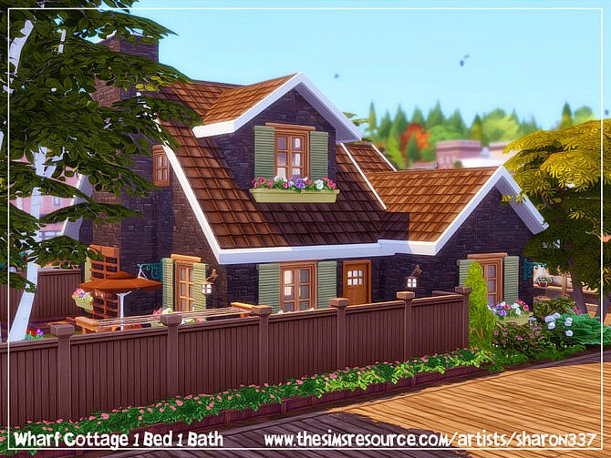 Sims 4 Wharf Cottage by sharon337 at TSR