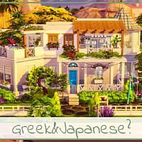 Greek & Japanese House By Simmer_adelaina