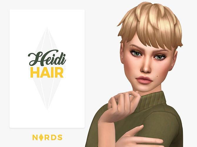 Sims 4 Heidi Hair by Nords at TSR