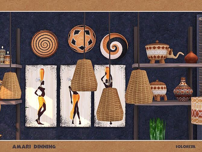Sims 4 Amari Dining Room by soloriya at TSR