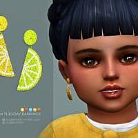 Lemon Tuesday Earrings Toddlers Version By Sugar Owl