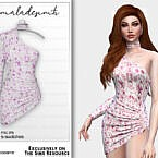 Floral Dress Mc175 By Mermaladesimtr