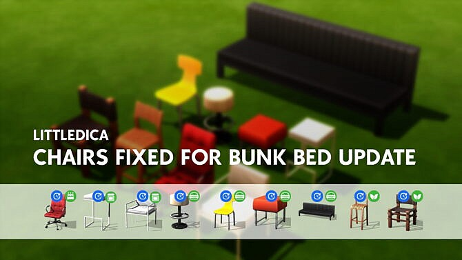 Fixed Chairs And Stools For Bunk Bed Update By Littledica