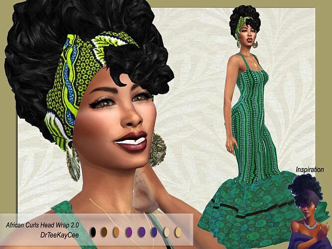 African Curls Head Wrap Ii Hair By Drteekaycee