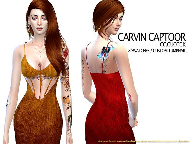 Sims 4 Gucce K dress by carvin captoor at TSR