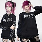 Baby Doll Hoodie By Maruchanbe