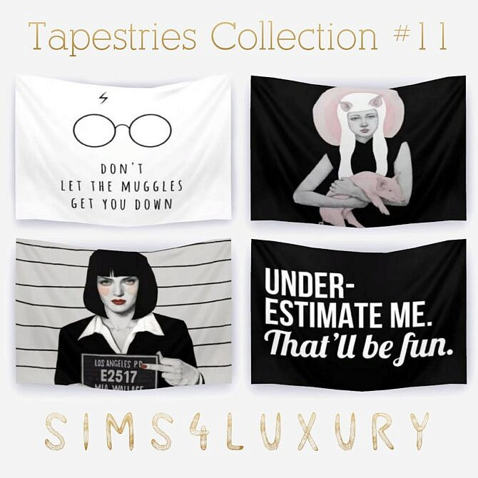 Sims 4 Tapestries Collection #11 at Sims4 Luxury