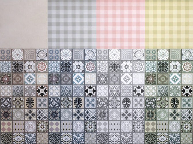 Wallpaper With Wintage Tiles
