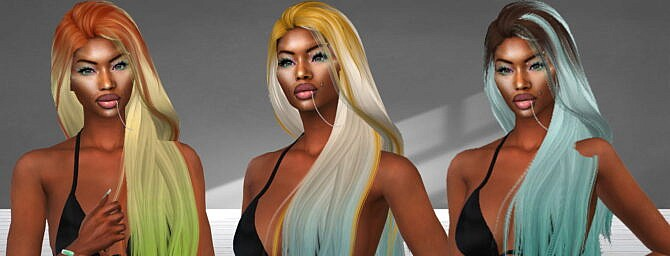 Sims 4 Eden Hair Recolor at Teenageeaglerunner