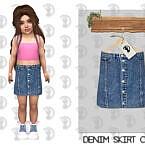 Denim Skirt C380 By Turksimmer