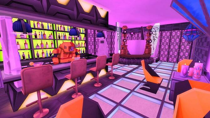 Sims 4 Cyberpunk Inspired build by bradybrad7 at Mod The Sims 4
