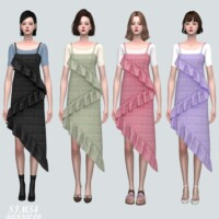 Bustier Dress With T-shirts