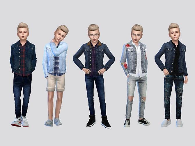 Sims 4 Harper Denim Jacket Boys by McLayneSims at TSR