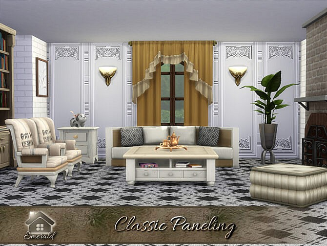 Sims 4 Classic Paneling by emerald at TSR