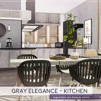 Gray Elegance Kitchen By Lhonna