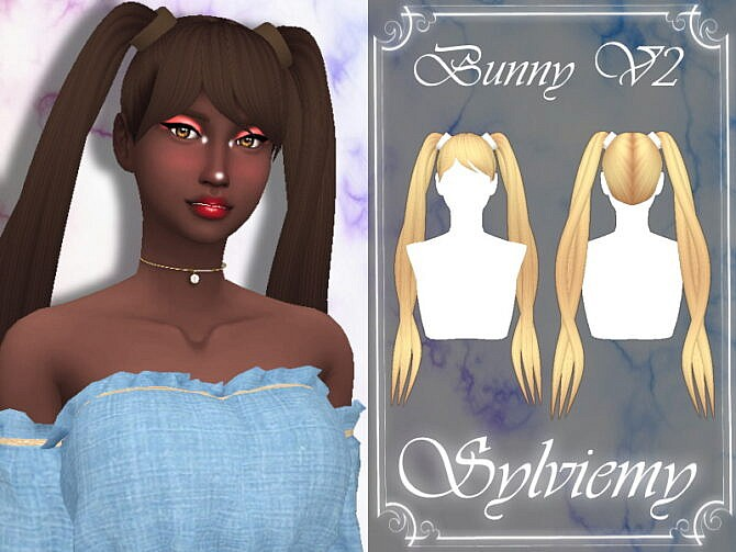 Sims 4 Bunny Hairstyle V2 by Sylviemy at TSR