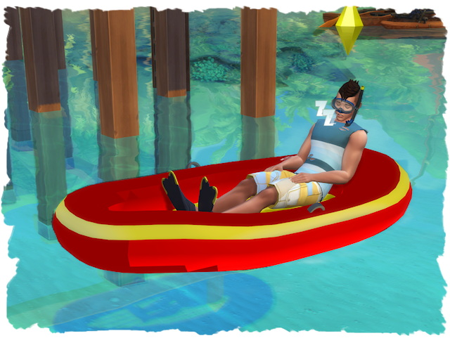 Sims 4 Inflatable Boat by Chalipo at All 4 Sims